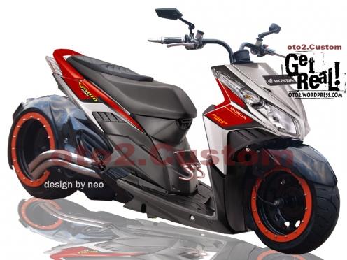Kumpulan Modifikasi Motor Honda Vario Techno Terbaru 2012 | Berita ...